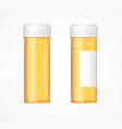 realistic detailed 3d orange pills bottle empty vector image