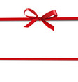 red ribbon isolated white background vector image