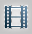 reel film sign blue icon with outline vector image vector image