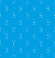 retro microphone pattern seamless blue vector image