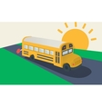 School bus side view vector image vector image