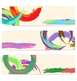 Set of Banners With Watercolor vector image vector image