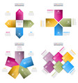 set of business infographics design template vector image