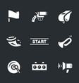 set of start signal icons vector image vector image