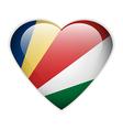 Seychelles flag button vector image vector image