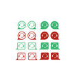 support service icon set vector image
