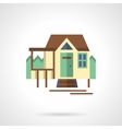 Tourist house flat color icon vector image