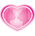 Valentines day card with cats vector image
