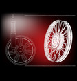 wheel and shock absorber on a red vector image vector image