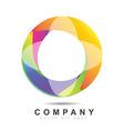 Circle logo icon vector image