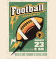 american football retro poster template vector image