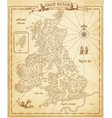 ancient looking decorative map great bitain vector image