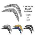 australian boomerang icon in cartoon style vector image vector image