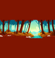 autumn landscape with forest and river vector image vector image