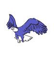 bald eagle hand drawn icon vector image