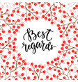 best regards calligraphic text for invitation and vector image vector image