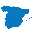 blank blue similar spain map isolated on white bac vector image vector image