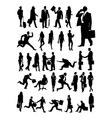 businessman and woman silhouette vector image