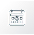 calendar icon line symbol premium quality vector image vector image