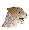 cartoon wild cat vector image