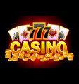 casino banner symbols poker 777 playing cards vector image vector image
