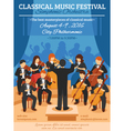 Classical Music Festival Flat Poster vector image vector image