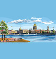 colorful hand drawing st petersburg 8 vector image vector image