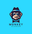 cool monkey logo design vector image vector image