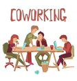 Coworking Center Concept vector image vector image