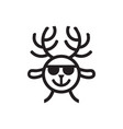 cute deer logo vector image