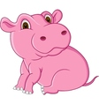 cute hippo cartoon vector image