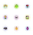 Death icons set pop-art style vector image vector image