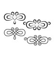 decorative ornament with swirl design elements vector image vector image