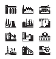 Different industrial plants vector image vector image