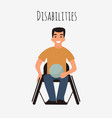 disabled rugby player in a wheelchair vector image vector image