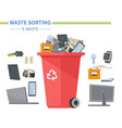 e-waste sorting - modern flat design style vector image