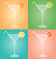 Empty glasses for martini with citrus and plastic vector image vector image