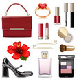 evening female accessories vector image