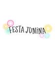 festa junina - brazilian june festival vector image