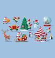festive collection christmas santa claus vector image