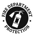 fire department protection logo simple style vector image vector image