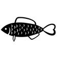 fish emblem vector image vector image