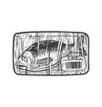 fish in store sketch vector image