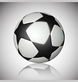football ball soccer ball with reflection on gray vector image vector image