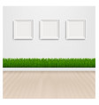 green grass with and picture frame vector image vector image