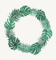 green summer tropical leaves border frame wreath vector image vector image