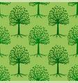 green tree seamless pattern leaves background vector image