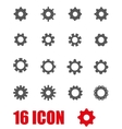 grey gear icon set vector image