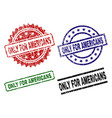 grunge textured only for americans stamp seals vector image