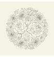 Hand drawn bouquet of roses vector image vector image